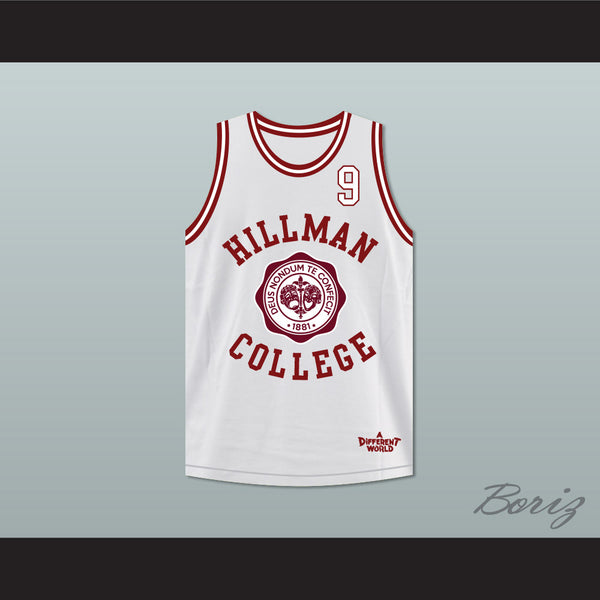 Dwayne Wayne 9 Hillman College Theater White Basketball Jersey A Different World - borizcustom - 1