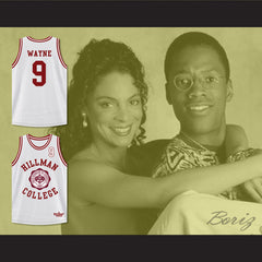 Dwayne Wayne 9 Hillman College Theater White Basketball Jersey A Different World - borizcustom - 3