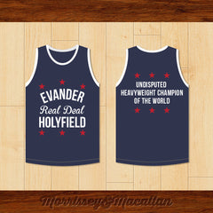 Evander 'Real Deal' Holyfield Basketball Jersey by Morrissey&Macallan - borizcustom