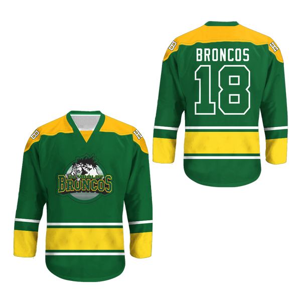 Humboldt Broncos 18 White Hockey Jersey Colors 5dead216b2c2