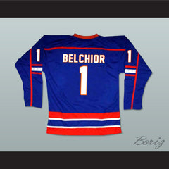 Marco Belchior GOON Halifax Highlanders Hockey Jersey Includes EMHL Patch - borizcustom