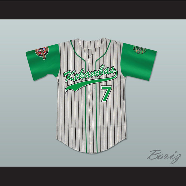 Andre 7 Kekambas Pinstriped Baseball Jersey with ARCHA and Duffy's Patches - borizcustom - 1