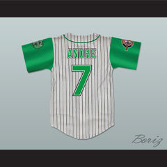 Andre 7 Kekambas Pinstriped Baseball Jersey with ARCHA and Duffy's Patches - borizcustom - 2