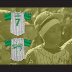 Andre 7 Kekambas Pinstriped Baseball Jersey with ARCHA and Duffy's Patches - borizcustom - 3