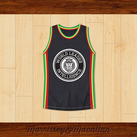 World Leader Intelligence Basketball Jersey by Morrissey&Macallan - borizcustom