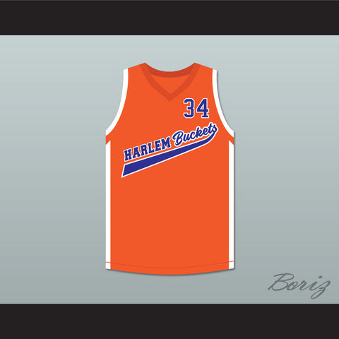 ee0a44ade73 Shaquille O'Neal Big Fella 34 Harlem Buckets Basketball Jersey Uncle Drew