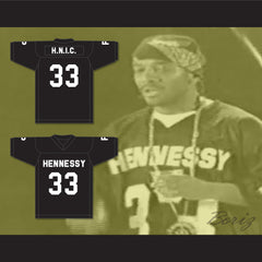 Prodigy H.N.I.C. 33 Hennessy Black Football Jersey Quiet Storm 2001 Source Awards