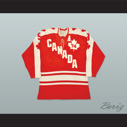 1974 Summit Series Gordie Howe 9 Canada Hockey Jersey - borizcustom - 1
