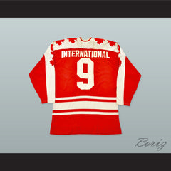 1974 Summit Series Gordie Howe 9 Canada Hockey Jersey - borizcustom - 2