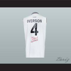 Allen Iverson 4 Turkish Basketball Jersey 2 Styles Stitch Sewn All Sizes New - borizcustom
