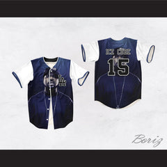 Ice Cube 15 Dark Blue Los Angeles Baseball Jersey