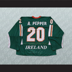 Adam Pepper Ireland Hockey Jersey Stitch Sewn Any Player or Number - borizcustom