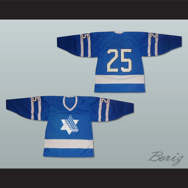 newest f89fb b171e Israel National Team Blue Hockey Jersey Any Player or Number