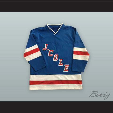 J. Cole 14 Forest Hills Drive Blue Hockey Jersey