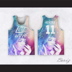 Jimi Hendrix 11 Little Wing Cosmos Design Basketball Jersey