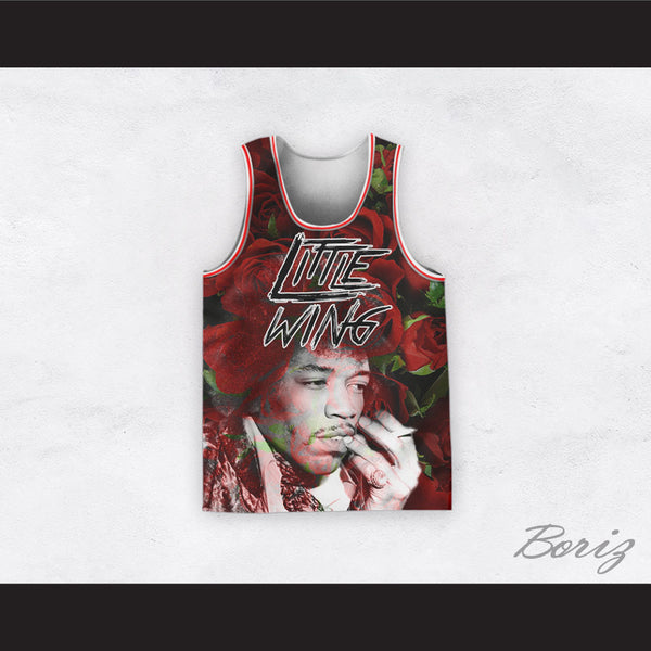 Jimi Hendrix 11 Little Wing Roses Design Basketball Jersey