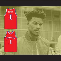Jimmy Butler 1 Tomball High School Cougars Red Basketball Jersey