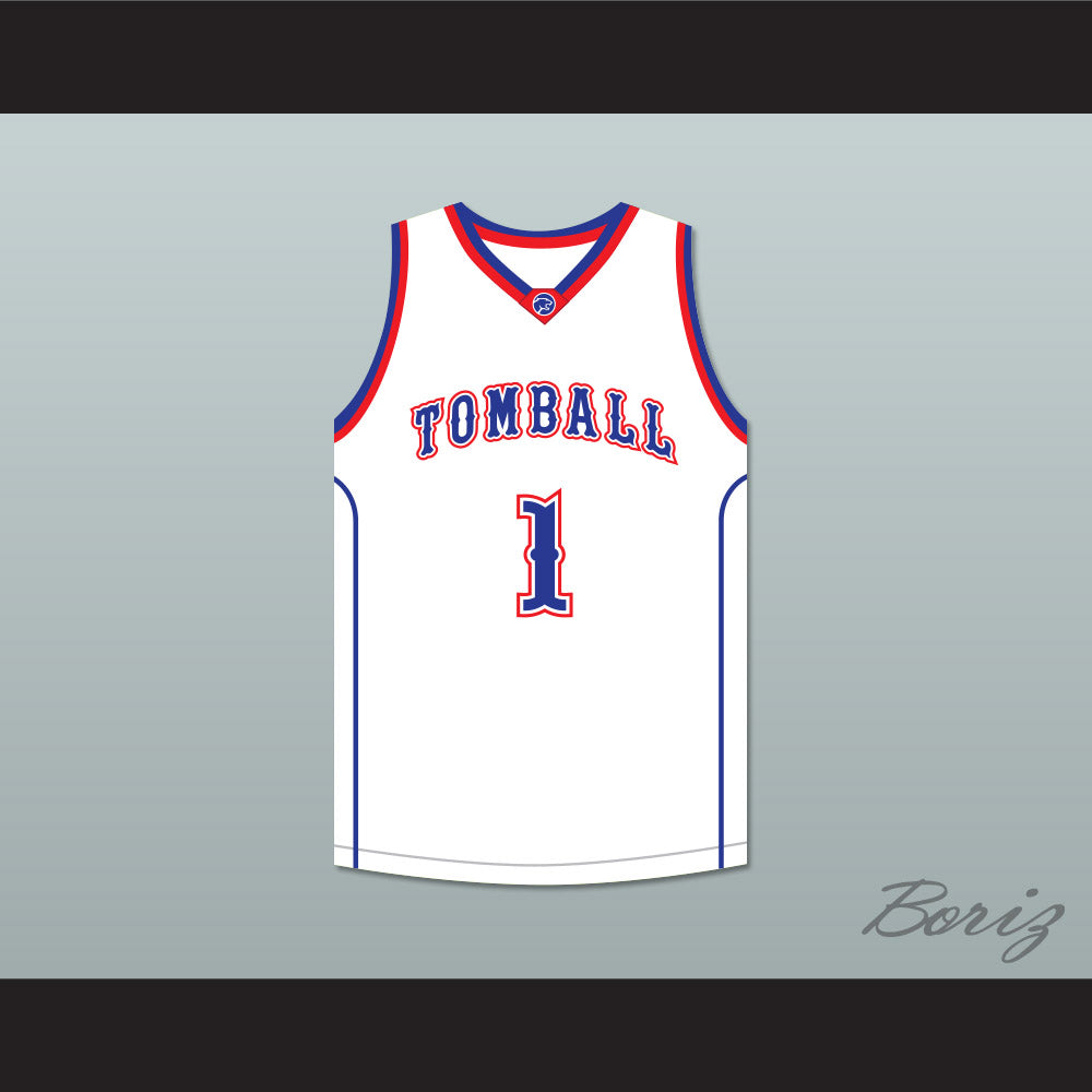 finest selection 1c2e7 7d930 Jimmy Butler 1 Tomball High School Cougars White Basketball Jersey