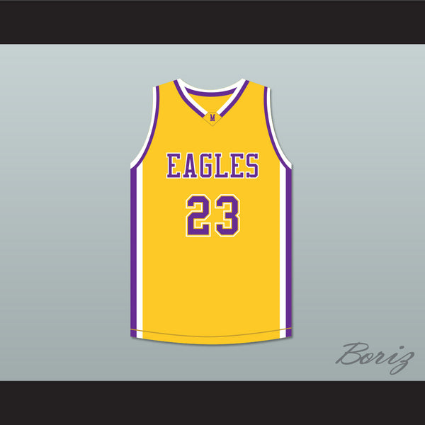 be992c2a708 Joel Embiid 23 Montverde Academy Eagles Yellow Basketball Jersey