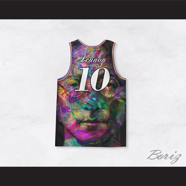 john lennon 10 imagine psychedelic style basketball jersey. Black Bedroom Furniture Sets. Home Design Ideas