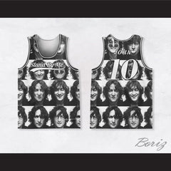 John Lennon 10 Stand by Me Black and White Portraits Basketball Jersey