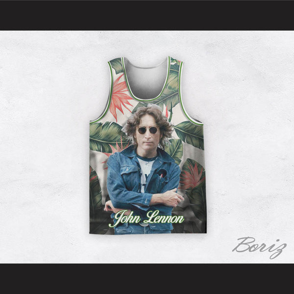 John Lennon 12 Tropical Plants Basketball Jersey