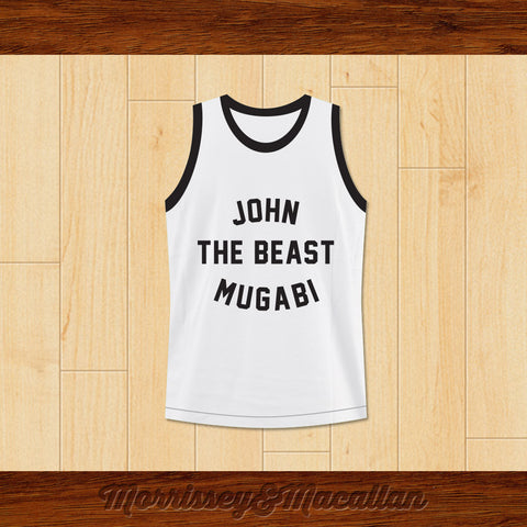 John 'The Beast' Mugabi Light Middleweight Champion Boxer Jersey by Morrissey&Macallan - borizcustom