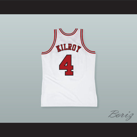 Johnny Kilroy 4 Pro Career White Basketball Jersey