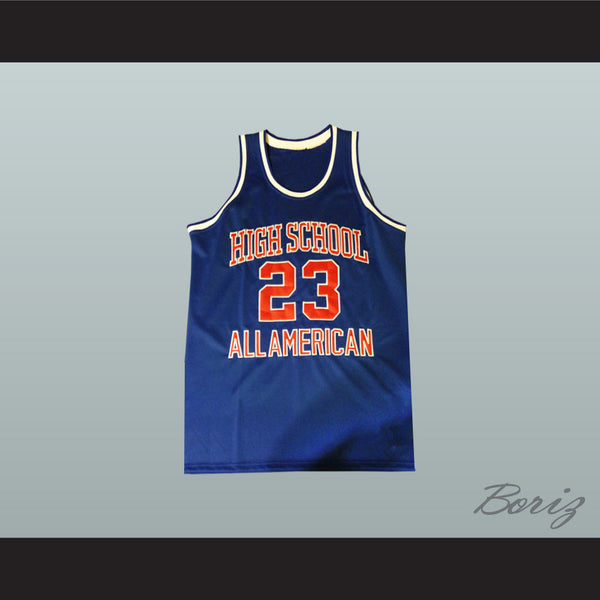 Product Image Michael Jordan 23 High School All American Blue Basketball  Jersey - borizcustom - 1 ... 921d4b277