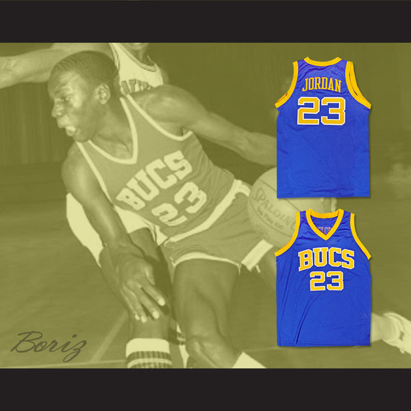 c9cd7974f6d Michael Jordan 23 Laney High School Buccaneers Basketball Jersey