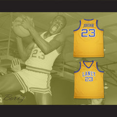Michael Jordan 23 Laney High School Buccaneers Yellow Basketball Jersey - borizcustom