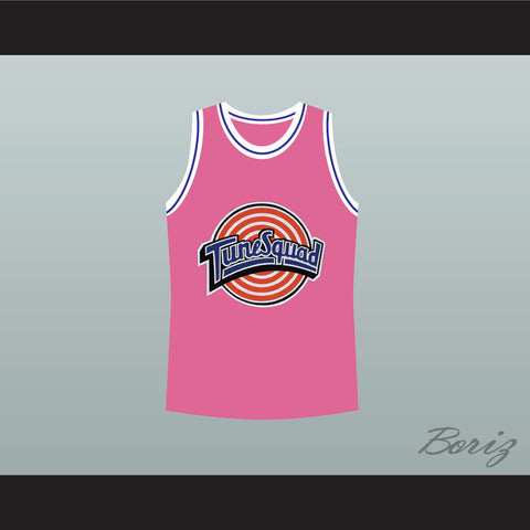 afc92ed5ec6175 Michael Jordan Space Jam Tune Squad Pink Basketball Jersey Any Size Made to  Order ALL Sewn