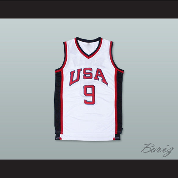 size 40 9f81c a4152 1984 Michael Jordan 9 USA Team Home Basketball Jersey