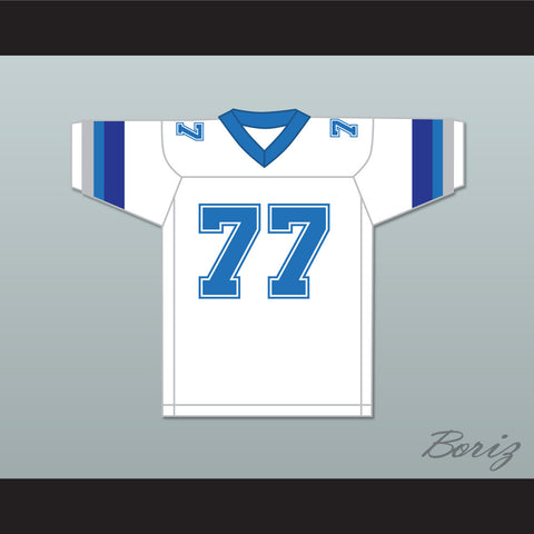 1983 USFL Junior Ah You 77 Boston Breakers Home Football Jersey
