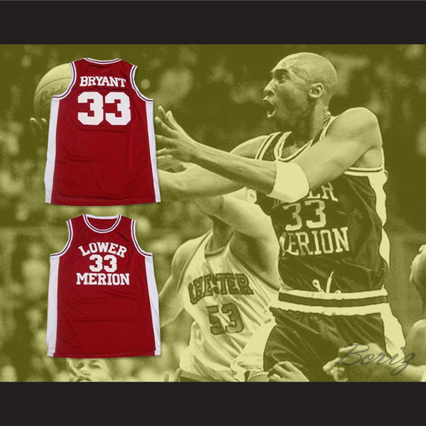 san francisco 4c501 31406 Bryant Lower Merion High School Basketball Jersey Stitch Sewn Any Size