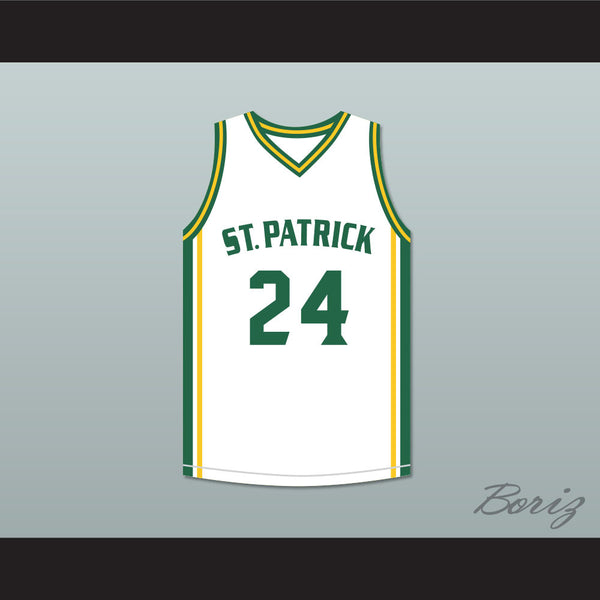 premium selection 4291a da958 Kyrie Irving 24 St. Patrick High School White Basketball Jersey