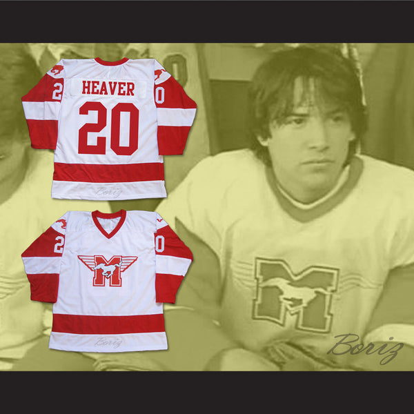 Keanu Reeves Heaver 20 Hamilton Mustangs Hockey Jersey Youngblood