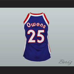 Kentucky Tom Owens 25 Old School Basketball Jersey Stitch Sewn New - borizcustom