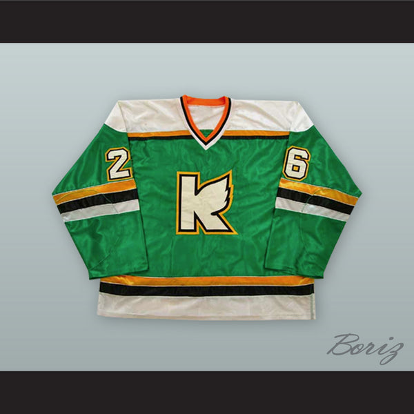 new styles 044a9 afdca Kevin Schamehorn 26 Kalamazoo Wings Green Hockey Jersey