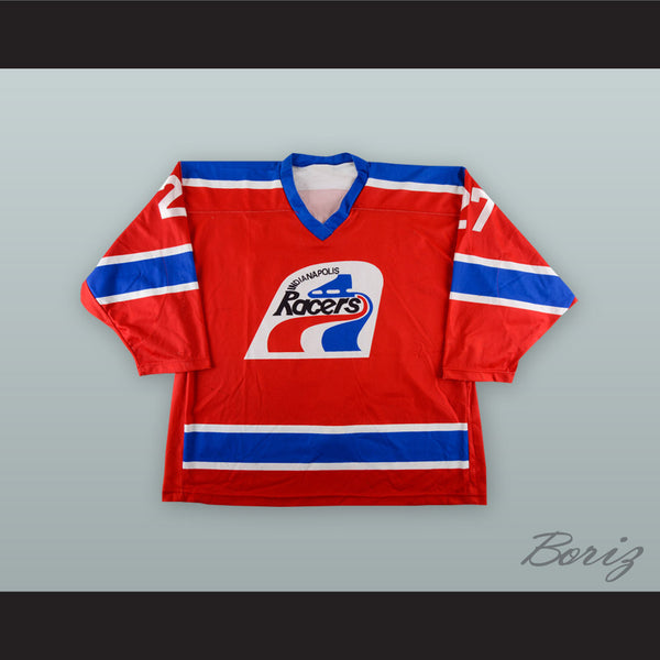 new arrival 9de32 17488 Kirk Daubenspeck 27 Indianapolis Ice WHA Racers Throwback Red Hockey Jersey