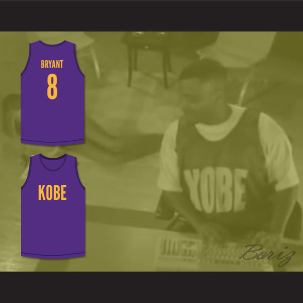 official photos e566d 74531 Bryant 8 Purple Basketball Jersey Kobe Bryant Expedia Skit MADtv