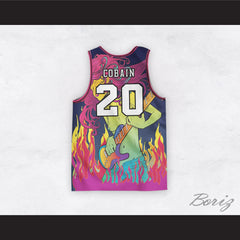Kurt Cobain 20 Nirvana Guitar Goddess Basketball Jersey