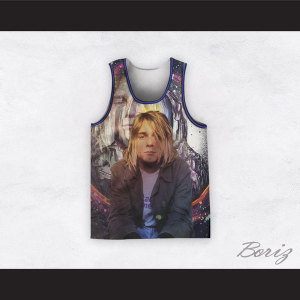 Kurt Cobain 20 Nirvana Spaceman Basketball Jersey