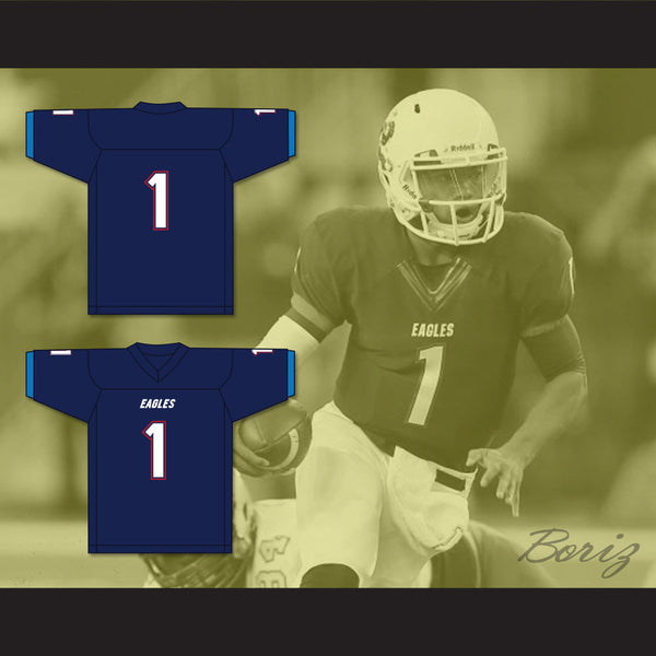 sports shoes f59d3 b36bb Kyler Murray 1 Allen High School Eagles Navy Blue Football Jersey