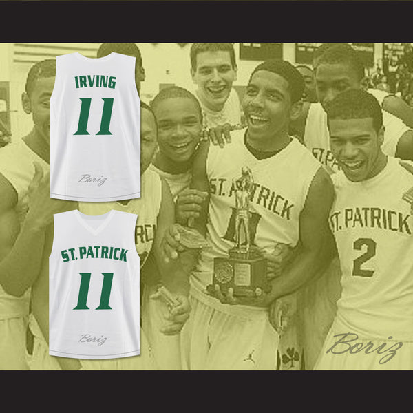 super popular 5ffa4 c6c19 Kyrie Irving 11 St. Patrick High School Basketball Jersey Stitch Sewn