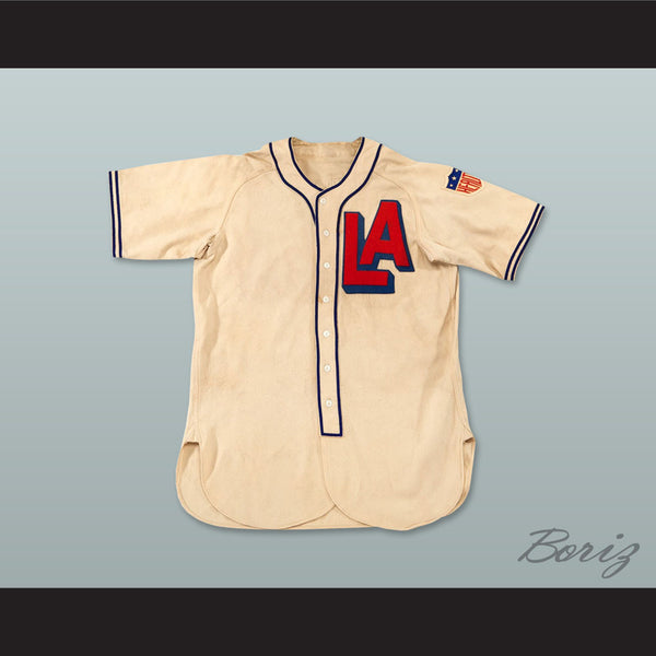 Arnold Jigger Statz 8 Los Angeles Angels PCL Replica Baseball Jersey Includes Patch - borizcustom