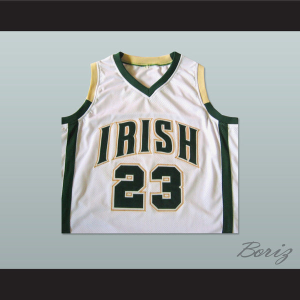 new photos 639a1 df367 Lebron James High School Basketball Jersey Irish 23 Stitch All Sizes