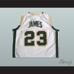 Lebron James High School Basketball Jersey Irish 23 Stitch All Sizes - borizcustom