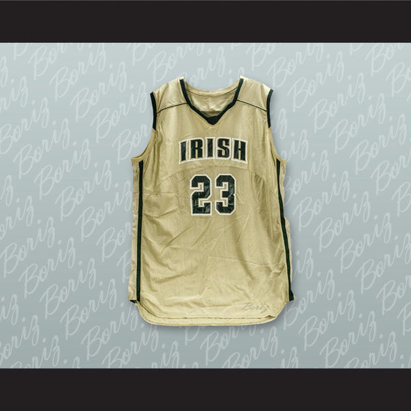 the best attitude a96b4 5f830 Lebron James 23 Fighting Irish High School Basketball Jersey White