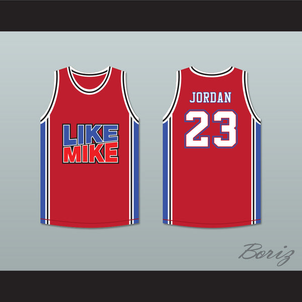... Michael Jordan 23 Like Mike Red Basketball Jersey New - borizcustom - 3 66084c484